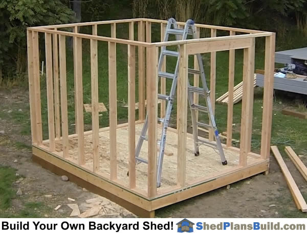How To Build A Backyard Storage Shed | Over 150 Pictures!