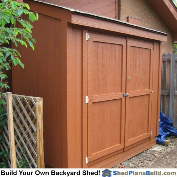 Learn how to build a lean to shed. This is a 4x8.