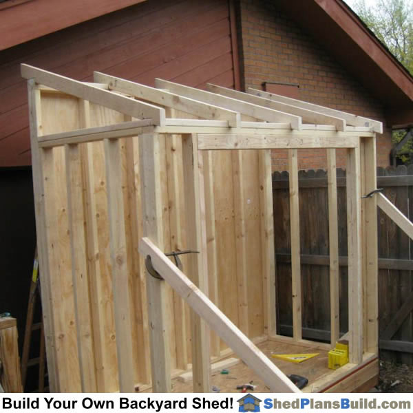 Lean to shed plans for How to build a sloped roof shed