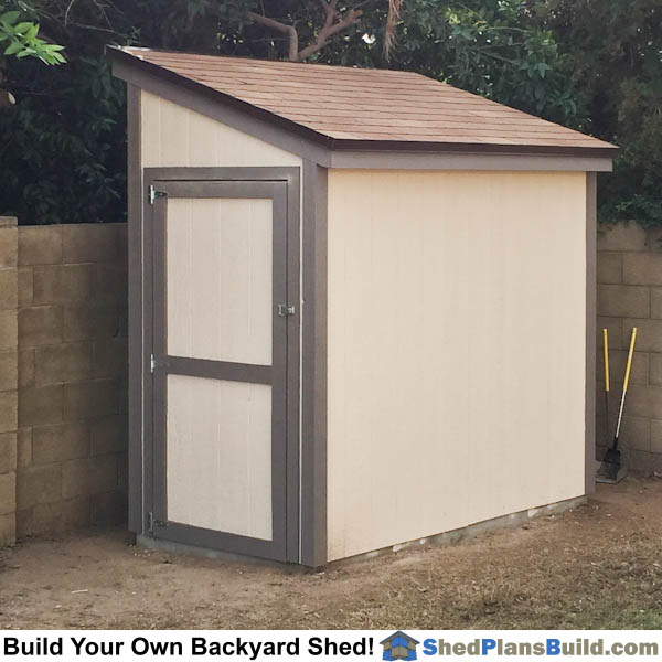 lean to shed plans photo