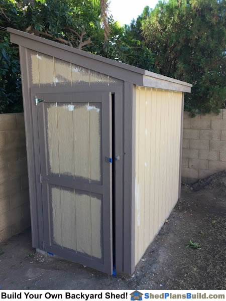 Painting 4x8 Lean To Storage Shed