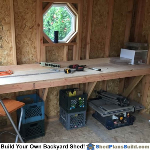 The 10 Best Garage Workbench Builds: Storage Shed Plans