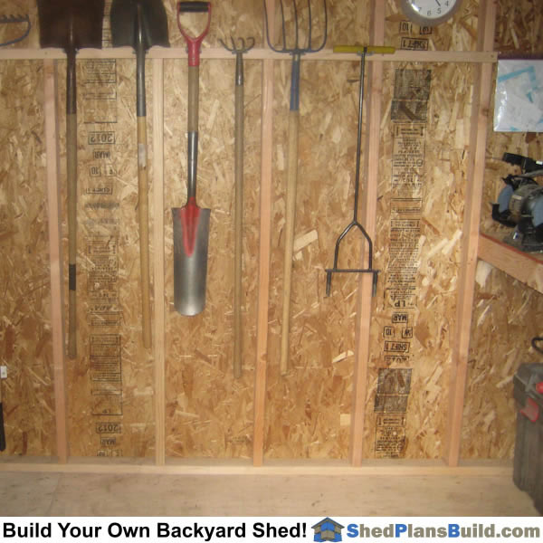 Hanging Tools On Shed Walls