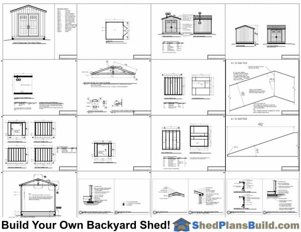 10x10 Backyard Shed Plans Example