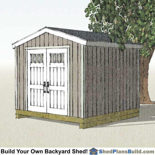 10x10 Backyard Shed Plans Right