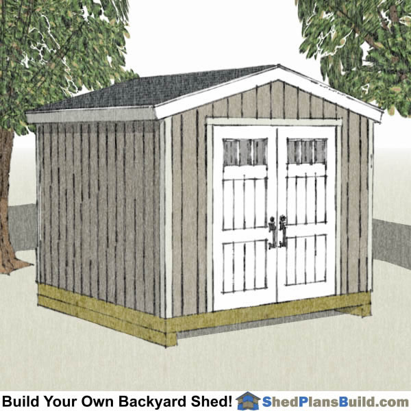 10x10 backyard shed plans store bought door