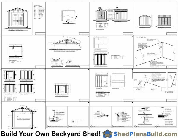 10x12 backyard shed plans for Shed plans and material list free