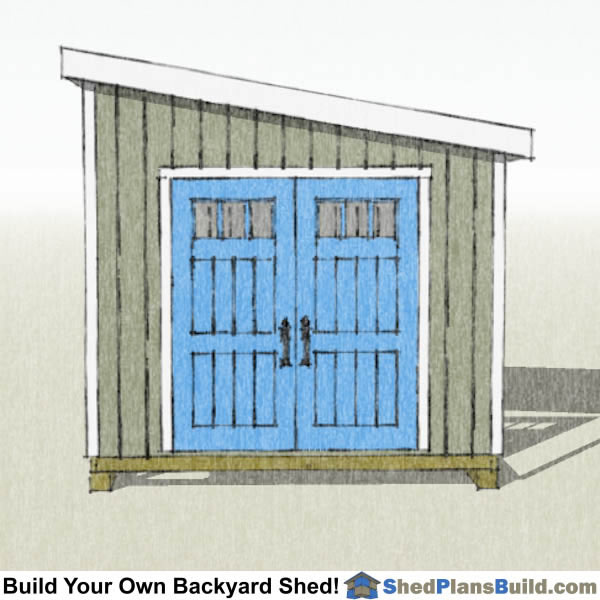how to build a small lean to shed