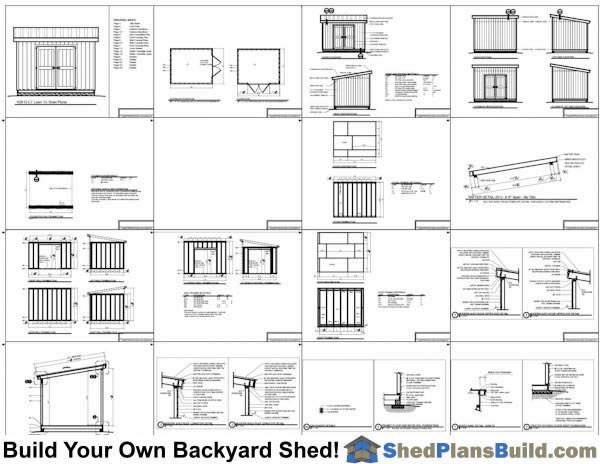 10x12 lean to shed plans start building now for Lean to house plans