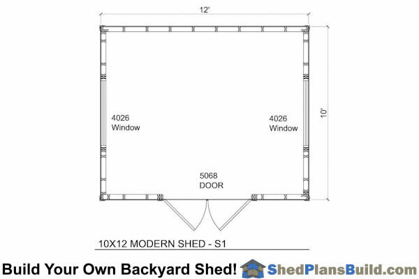 10x12 Lean To Shed Floor Plan