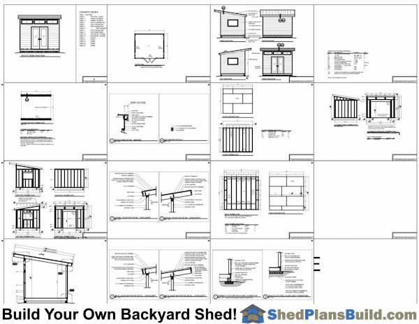 10x12 modern shed plans bulid a modern studio shed for Shed plans and material list