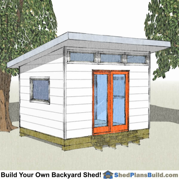 Backyard shed plans for Modern garden shed designs