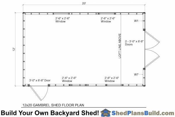 12x20 gambrel shed for 12 x 20 shed floor framing