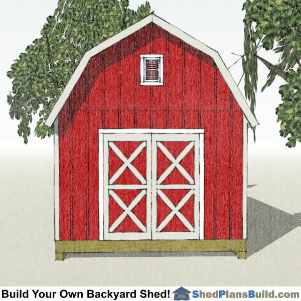 12x20 Gambrel Shed Plans End View. 12x20 Gambrel Shed Plans   Small Barn Shed