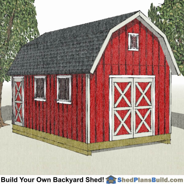 12x20 shed plans 12x20 storage sheds for Gambrel shed