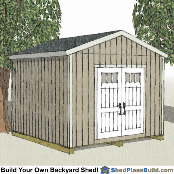12x12 Backyard Shed Plans