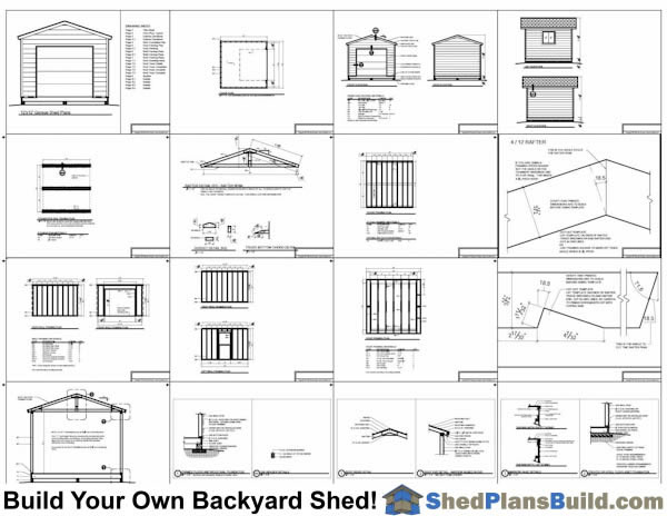 12x12 Shed With Garage Door Plans Example