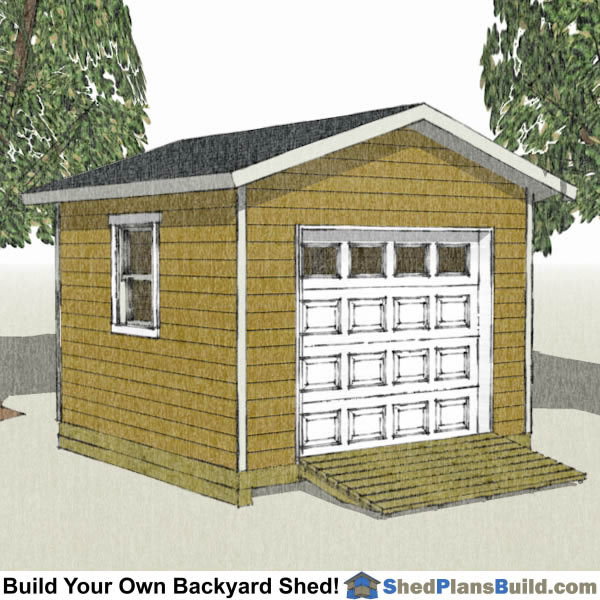 Shed with garage door plans wageuzi for Garage door plans free