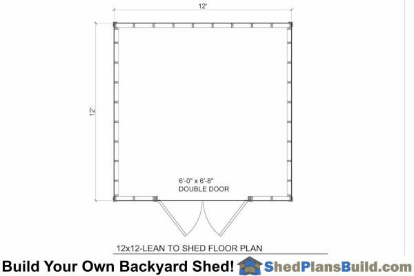 12x12 Lean To Shed Floor Plan