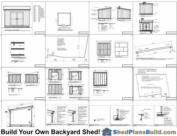 12x12 Lean To Shed Plans Example: