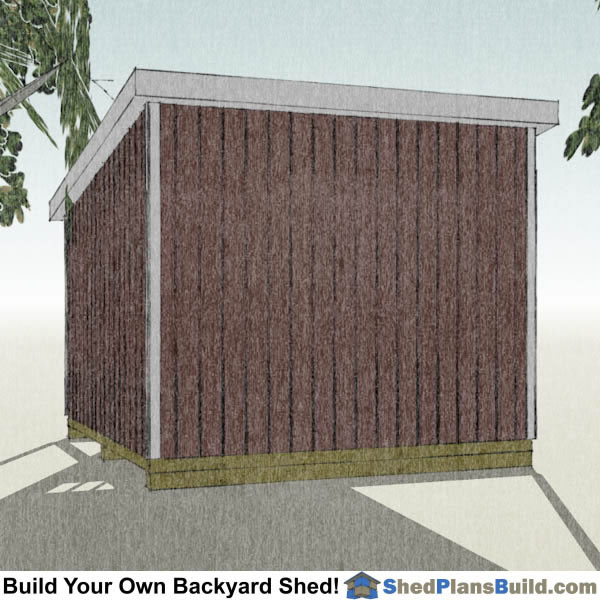 12x12 Lean To Shed Plans Right