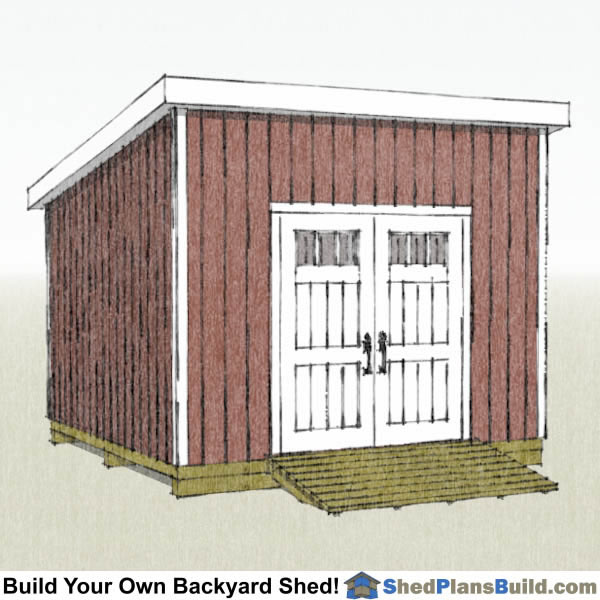 12x12 Lean To Shed Plans Right Rear