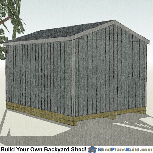 12x16 Backyard Shed Plans Right Rear