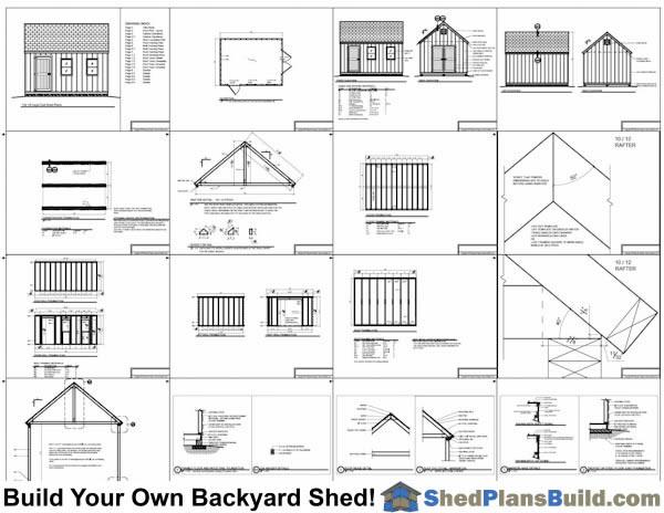Cape Cod Garden Shed Plans