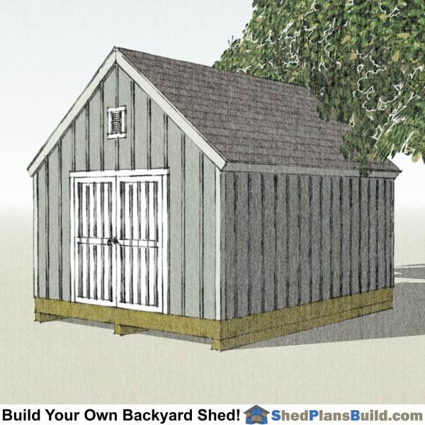 12x16 Cape Cod Garden Shed Plans