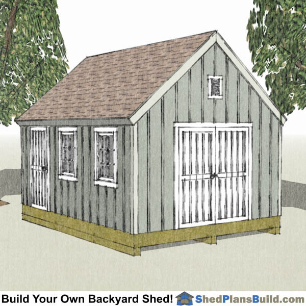 12x16 Backyard, Garden and Lean To Shed Plans