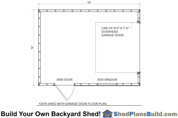 12x16 garage storage shed plans for 12x16 shed floor plans