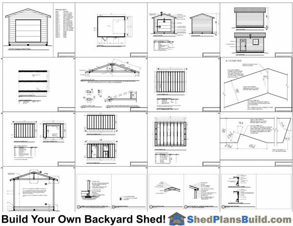 12x16 garage storage shed plans for Garage and storage building plans