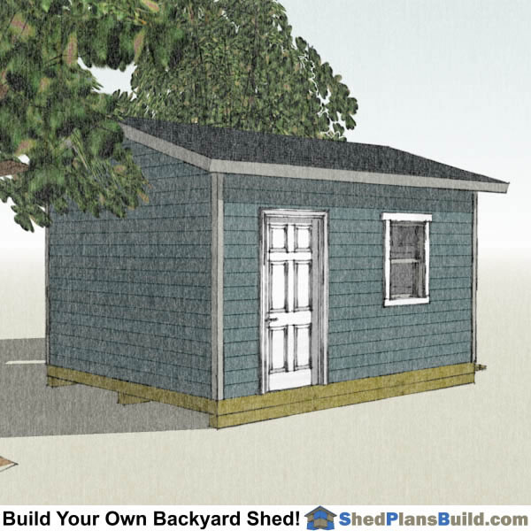 12x16 Garage Storage Shed Plans
