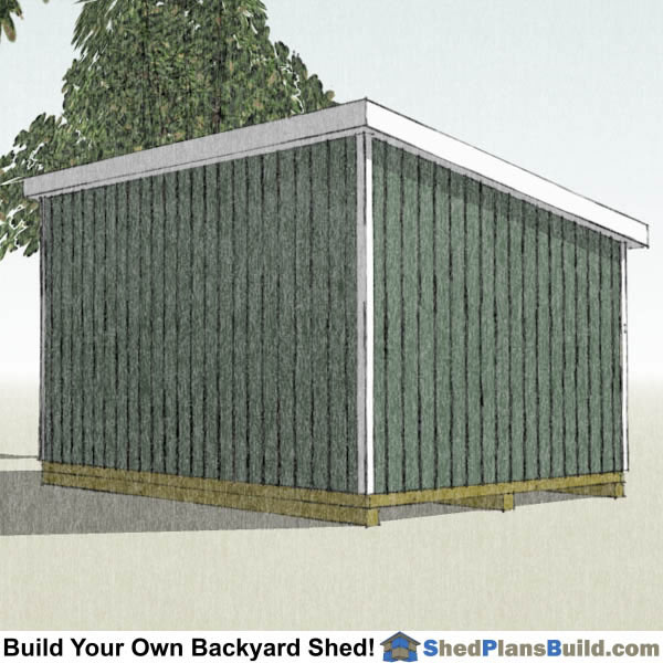 12x16 Lean To Shed Plans Left Rear