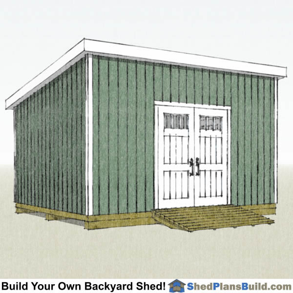 12x16 Lean To Shed Plans Right Rear