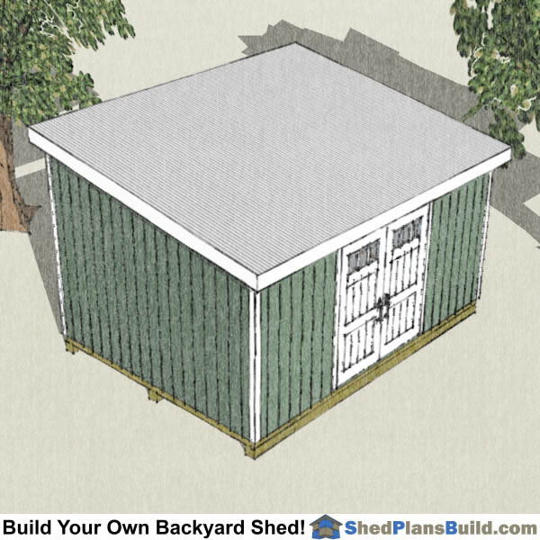 12x16 Lean To Shed Plans Right