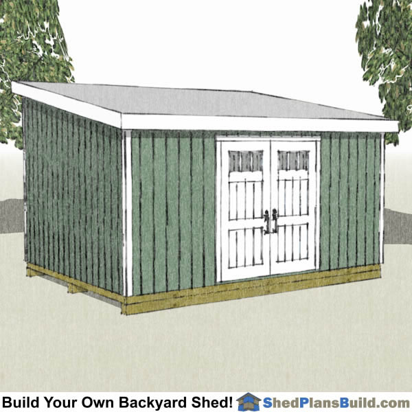 12x16 Lean To Shed Plans by Shed Plans Build