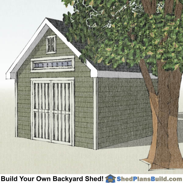 12x16 Garden Shed Plans Right