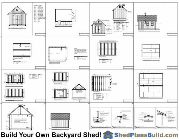 12x16 Garden Shed Plans Example