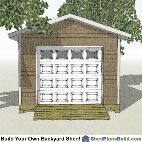 12x20 garage door storage shed plans for Garage door plans free
