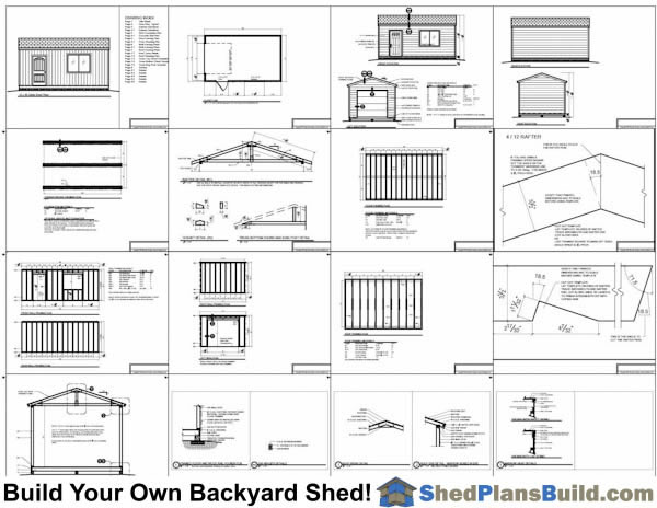 12x20 Garage Door Storage Shed Plans