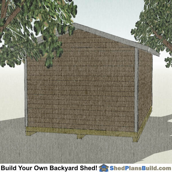 12x20 Garage Door Shed Plans Right Rear