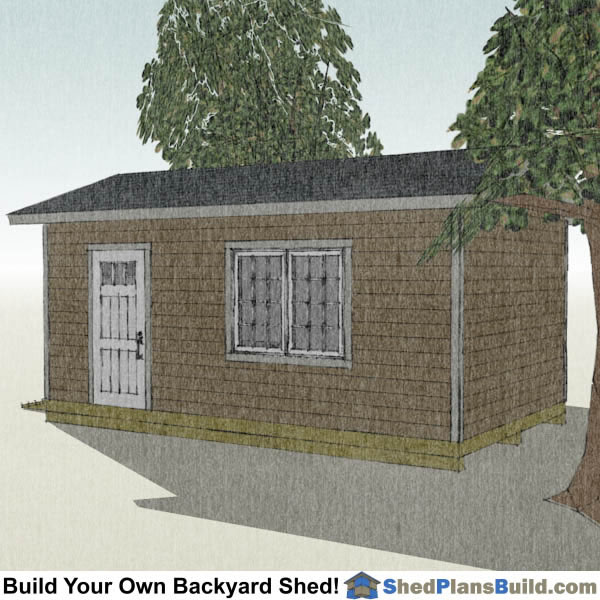 12x20 Garage Door Shed Plans Right