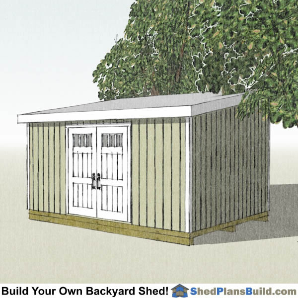 12x20 Lean To Shed Plans By Shed Plans Build