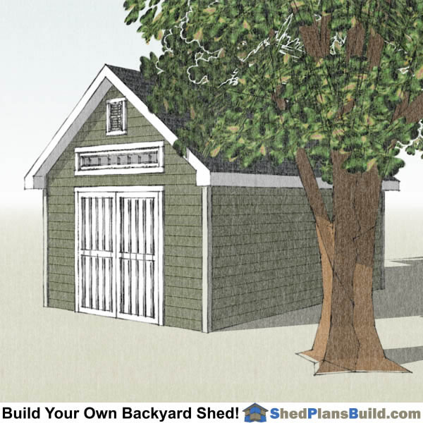 12x20 traditional victoran style shed plans for Victorian garden shed designs