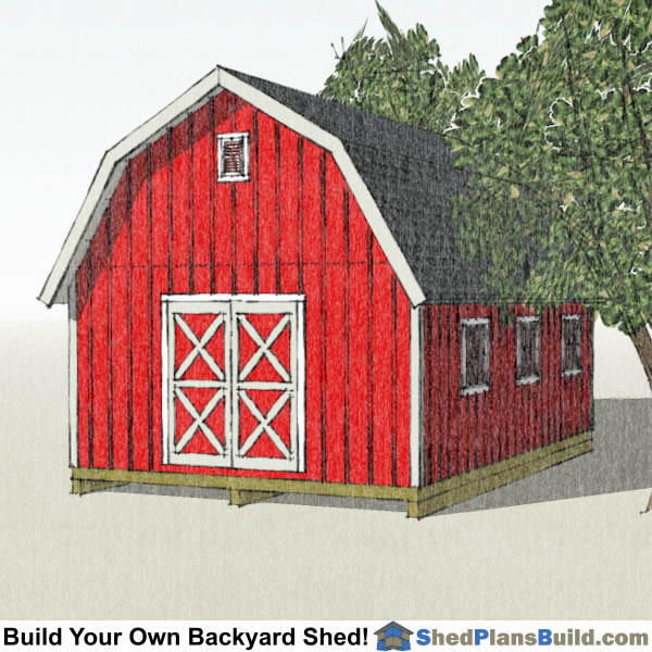 16x24 Gambrel Shed Plans Right
