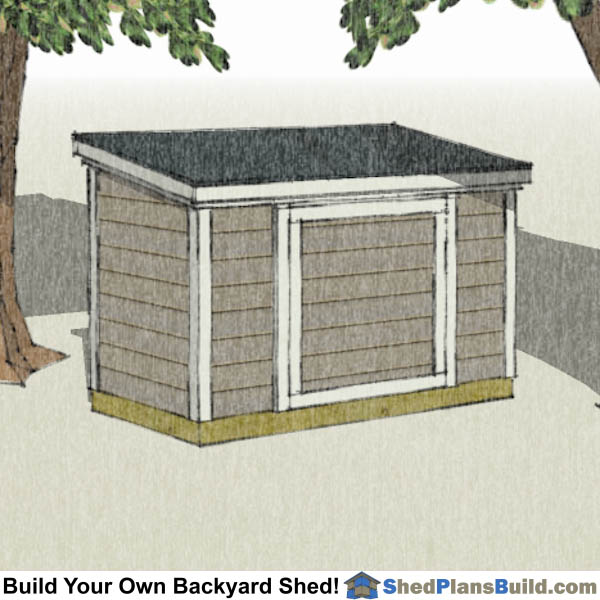 4x8 short lean to shed plans with 6' tall