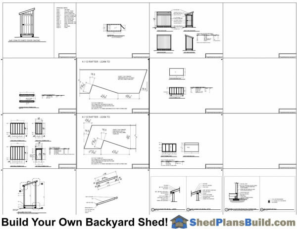 4x8 Lean To Shed Plans Door On End Example