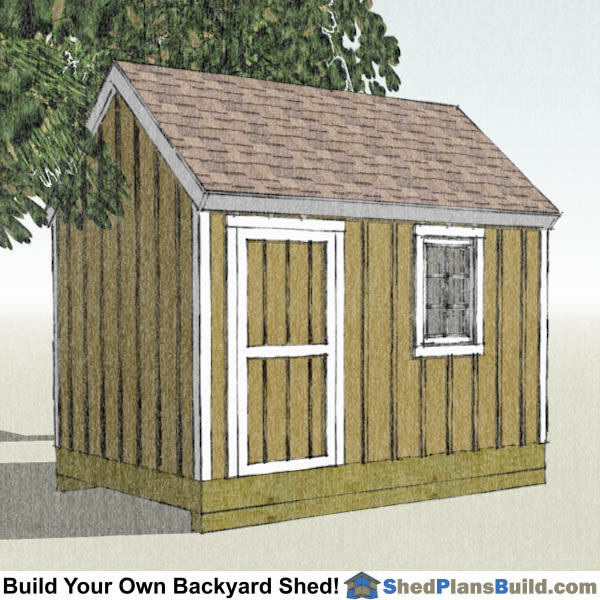 8x12 garden shed plans build your own 8x12 garden shed Cape cod shed plans
