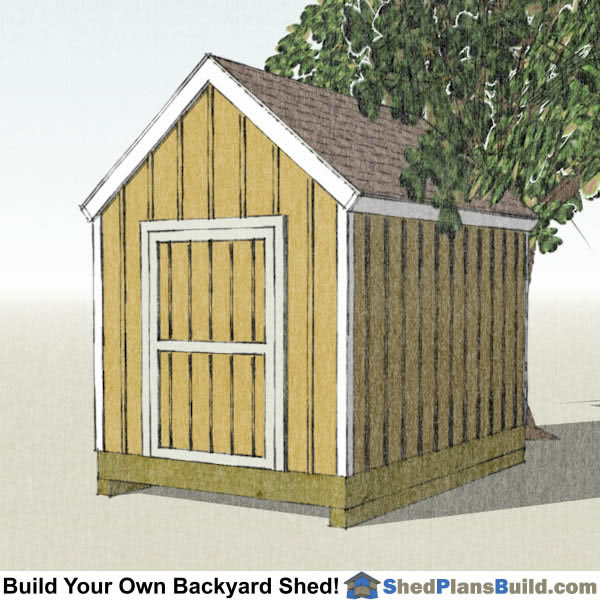 8x12 garden shed plans build your own 8x12 garden shed for Cape cod shed plans